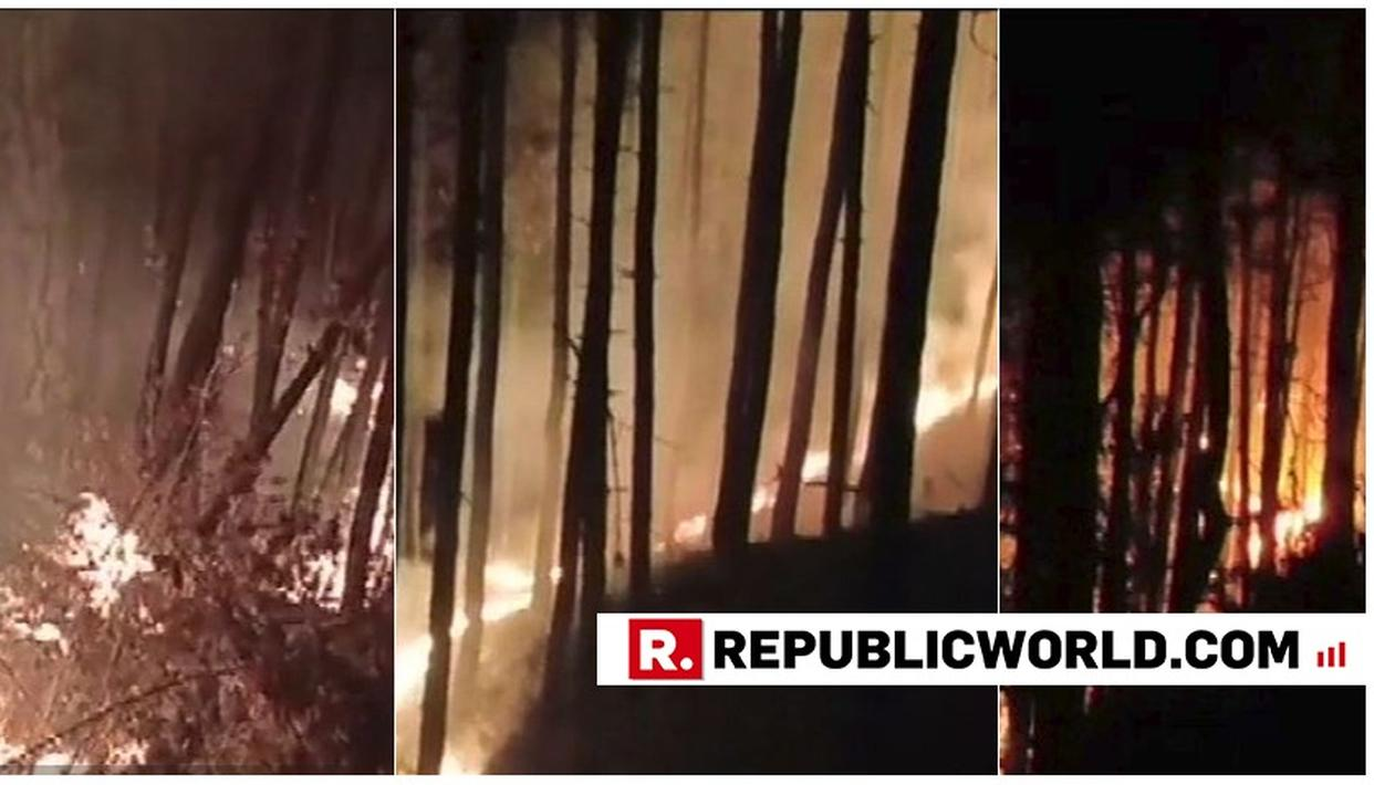 MASSIVE FOREST FIRE IN UTTARAKHAND'S TEHRI FORESTS CONTINUE, ORANGE ALERT ISSUED