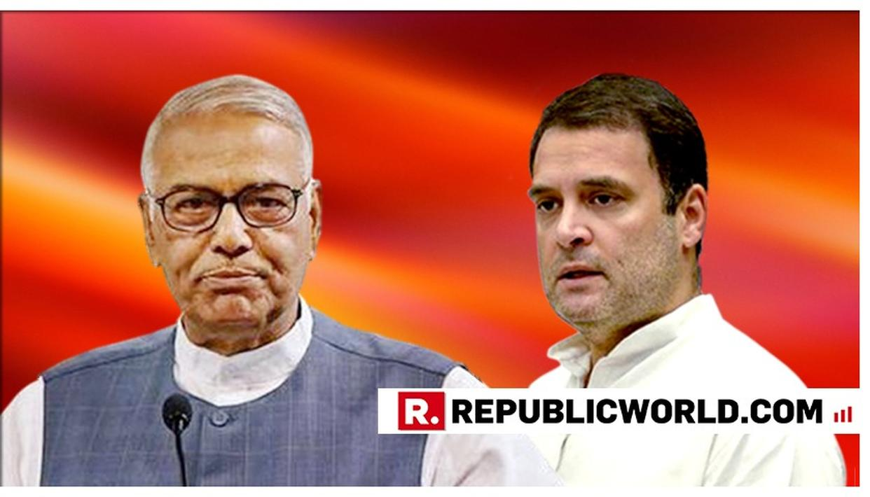 YASHWANT SINHA TELLS RAHUL GANDHI TO GO, SAYS 'IF HE DOES NOT STAND FIRM REGARDING HIS RESIGNATION, HE WILL LOSE PUBLIC ESTIMATION'