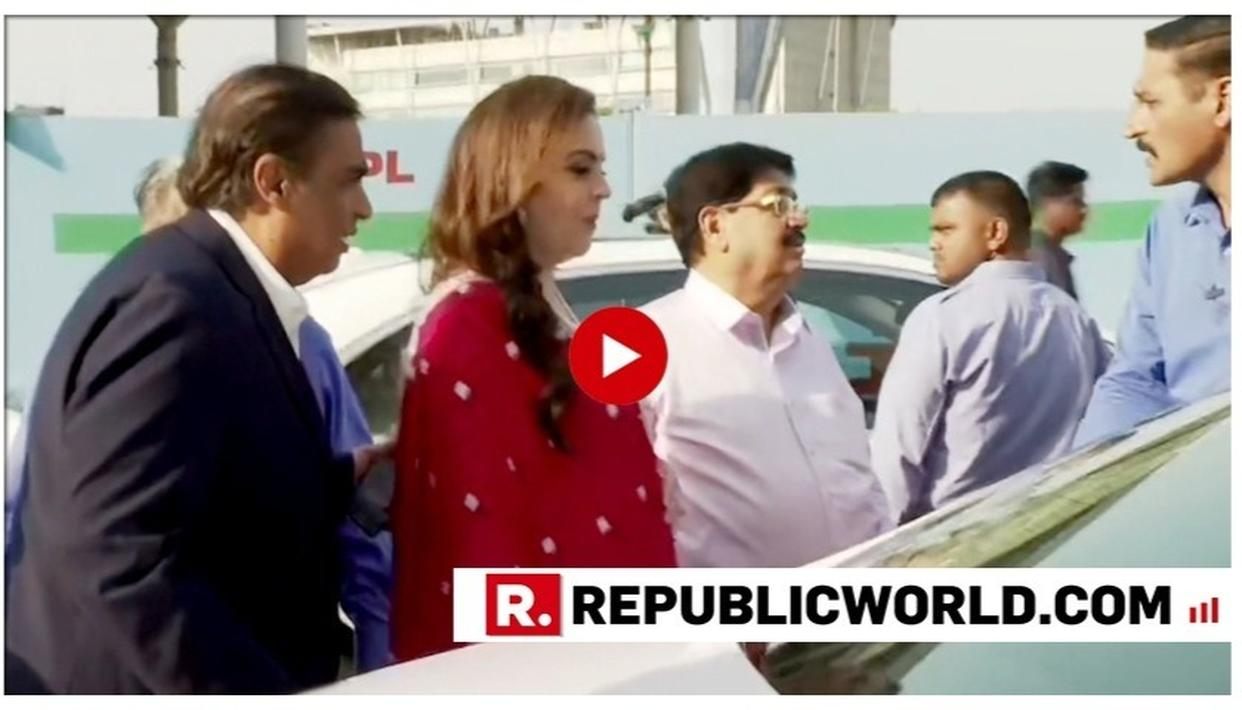 NITA AND MUKESH AMBANI ARRIVE IN DELHI FOR PM NARENDRA MODI'S SWEARING-IN CEREMONY