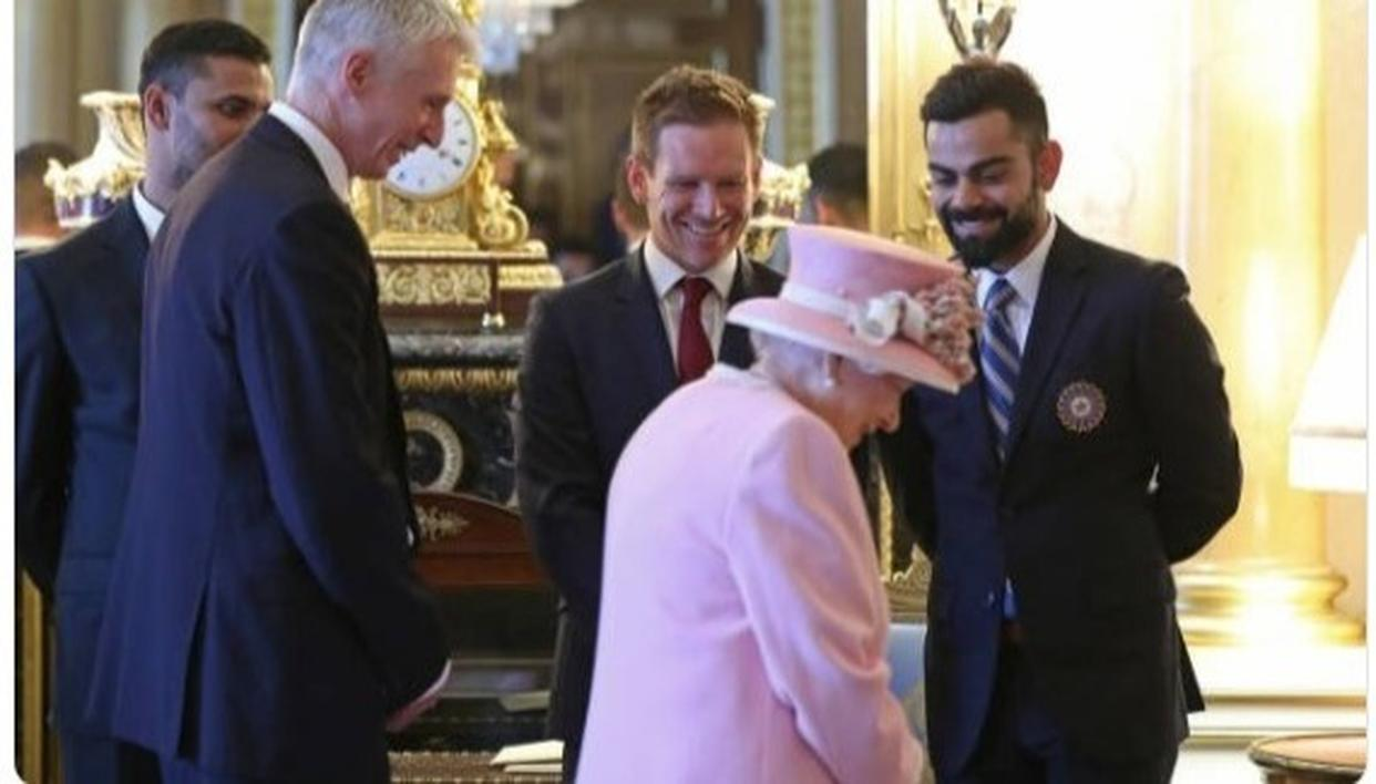 'IT'S KOHLINOOR,' SAY NETIZENS PROCLAIMING VIRAT KOHLI THE REAL GEM AS TEAM INDIA'S SKIPPER MEETS THE QUEEN
