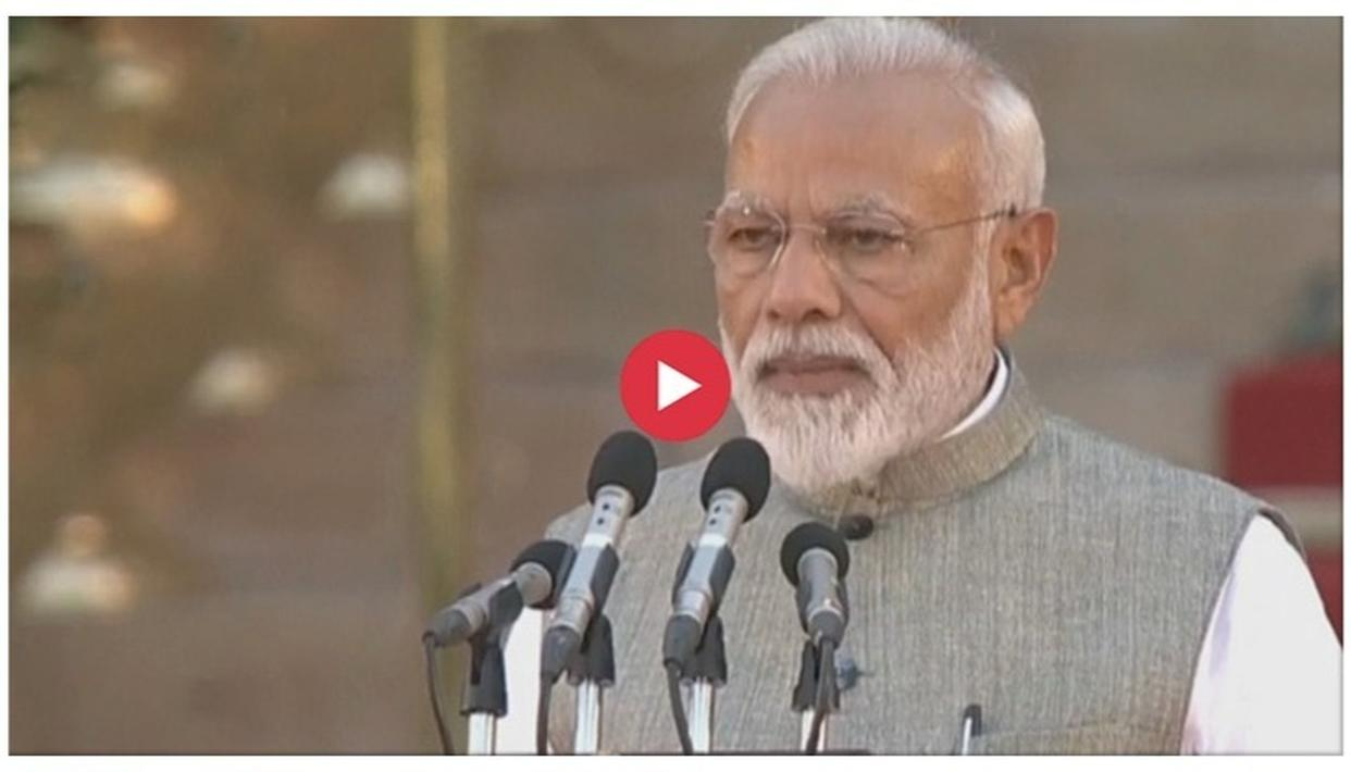 WATCH: NARENDRA MODI TAKES OATH AS THE PRIME MINISTER OF INDIA, BEGINS HIS SECOND TERM IN OFFICE