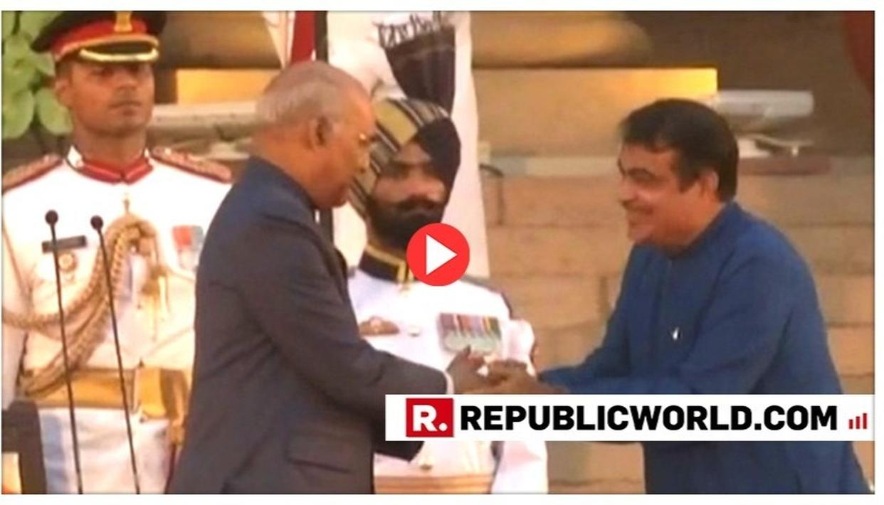 WATCH | NITIN GADKARI TAKES OATH AS A NEWLY-INDUCTED CABINET MINISTER IN THE MODI CABINET 2.0
