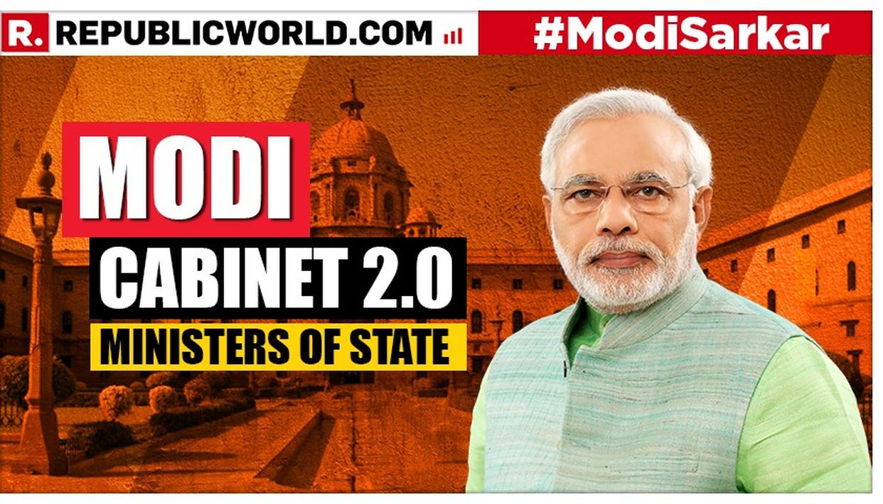 HERE'S THE LIST OF MINISTERS OF STATE IN THE SECOND NARENDRA MODI-LED NDA GOVERNMENT WHO ARE TAKING OATH WITH THE PRIME MINISTER