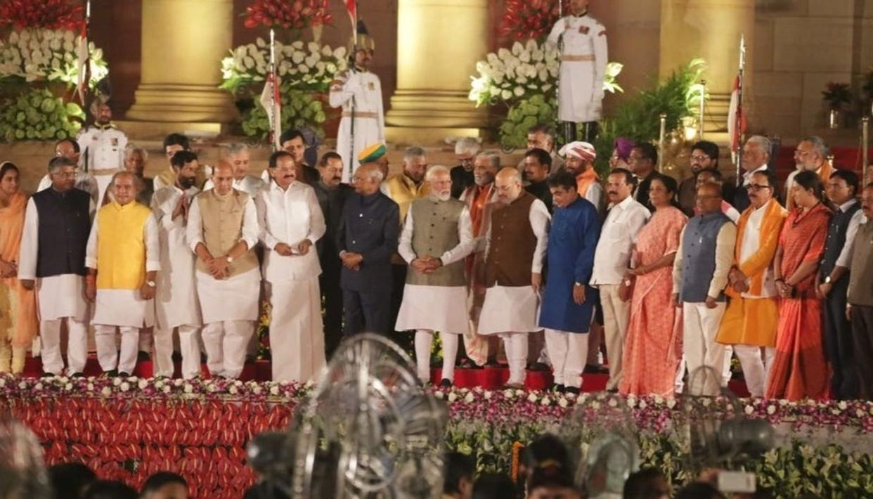 MODI CABINET 2.0: HERE'S THE PARTY-WISE BREAK-UP OF THE 58 MINISTERS OF THE NARENDRA MODI-LED NDA GOVERNMENT THAT WAS SWORN-IN AT RASHTRAPATI BHAVAN