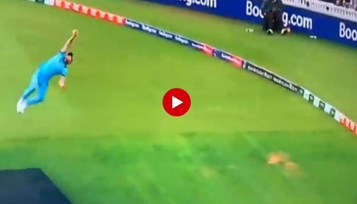 WORLD CUP 2019: 'BEN STOKES PAYING TRIBUTE TO JONTY RHODES': NETIZENS LEFT IN AWE AS ENGLAND ALL-ROUNDER TAKES AN UNBELIEVABLE FLYING CATCH