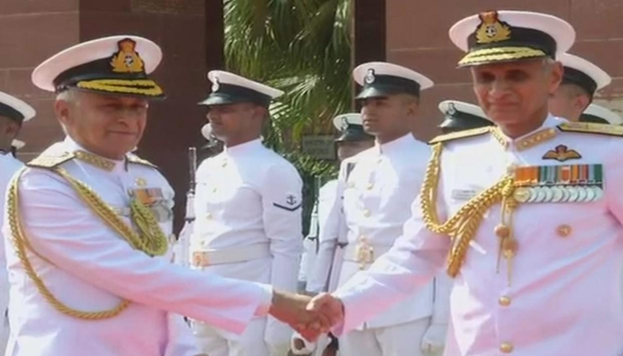 WATCH: ADMIRAL KARAMBIR SINGH TAKES CHARGE AS THE CHIEF OF NAVAL STAFF