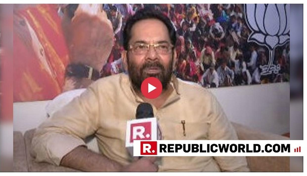 EXCLUSIVE: 'WHATEVER RESPONSIBILITY I GET, I WILL DO IT WITH ALL DEDICATION', SAYS MUKHTAR ABBAS NAQVI MINUTES BEFORE THE ANNOUNCEMENT OF THE DESIGNATED PORTFOLIOS TO MINISTERS IN MODI CABINET 2.0