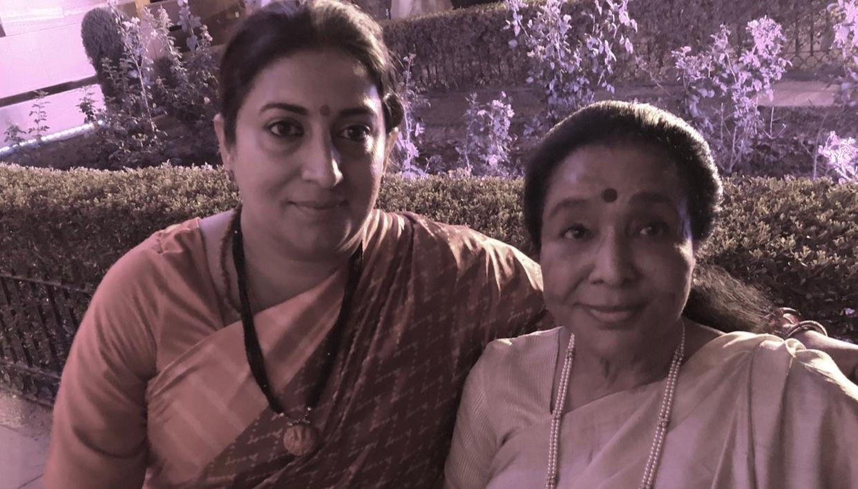 'I WAS STRANDED IN THE CRAZY RUSH POST PM OATH CEREMONY...,' ASHA BHOSLE PRAISES UNION MINISTER SMRITI IRANI FOR HELPING HER. A MUST-READ