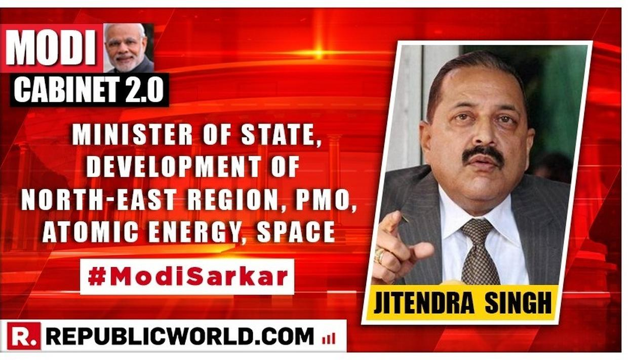 Modi Cabinet 2.0 | WATCH: Jitendra Singh takes charge as Minister of State, Development of North-East region, PMO, Atomic Energy, Space