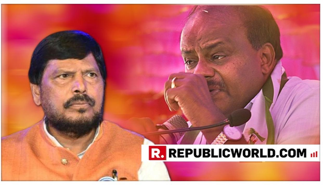 MUST WATCH | RAMDAS ATHAWALE'S SING-SONG INVITATION TO KUMARASWAMY TO JOIN THE NDA
