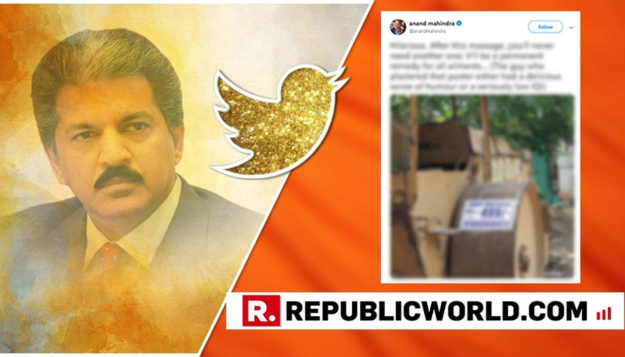 'EITHER DELICIOUS SENSE OF HUMOUR OR SERIOUSLY LOW IQ', TWEETS ANAND MAHINDRA AS HE SHARES A PAMPHLET OF MASSAGE AD THAT YOU WOULDN'T WANT