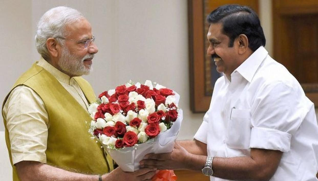 AMID LANGUAGE ROW, TAMIL NADU CM EPS REQUESTS PM MODI TO INCLUDE TAMIL AS AN OPTIONAL LANGUAGE FOR STUDY IN OTHER STATES