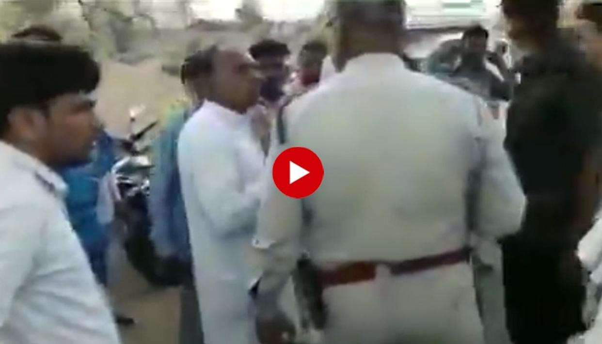 WATCH: CONGRESS LAWMAKER ARGUES WITH COP OVER TRAFFIC CHALLAN ISSUED TO A MOTORCYCLIST FOR TRIPLE-RIDING
