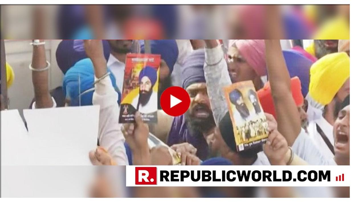 SHOCKING: PRO-KHALISTAN SLOGANEERING AT GOLDEN TEMPLE ON 35TH ANNIVERSARY OF OPERATION BLUE STAR, JARNAIL BHINDRANWALE POSTER FLASHED