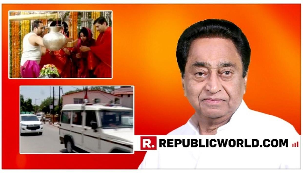 SHOCKING: RELATIVES OF M.P CM KAMAL NATH GET POLICE ESCORT, AMBULANCE AND CONVOY FOR TEMPLE VISIT IN UJJAIN