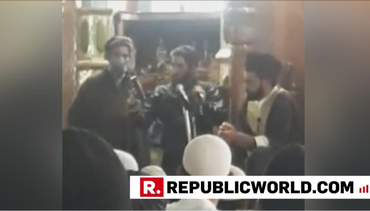 SHOCKING: TERRORISTS WAVE GUNS INSIDE KULGAM MOSQUE