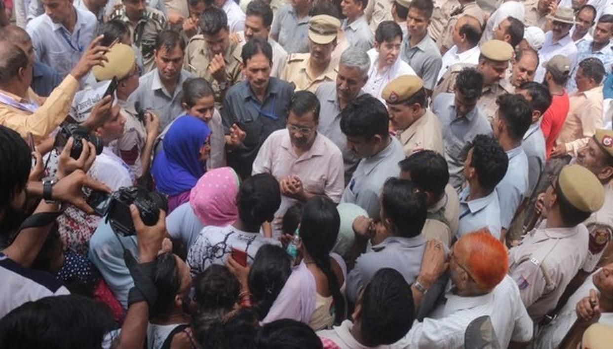 GANGA WATER TO REACH RESIDENTS OF BADARPUR IN A WEEK'S TIME: KEJRIWAL
