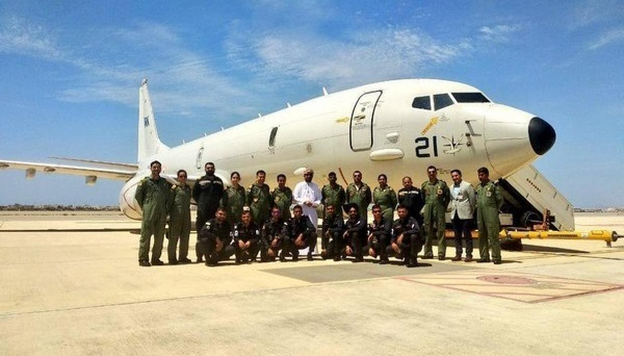 AIRCRAFT P8I EQUIPPED WITH SPECIAL RADARS, SENSORS AIRBORNE TO SEARCH IAF AN-32