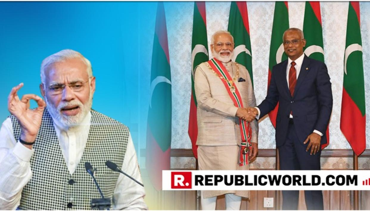 "WATCH: ""THE SEAS HAVE BLESSED THE DEPTHS OF OUR RELATIONS,"" SAYS PM MODI EMPHASISING HIS 'NEIGHBOURHOOD FIRST' POLICY, DURING HIS ADDRESS AT MALDIVIAN PARLIAMENT"