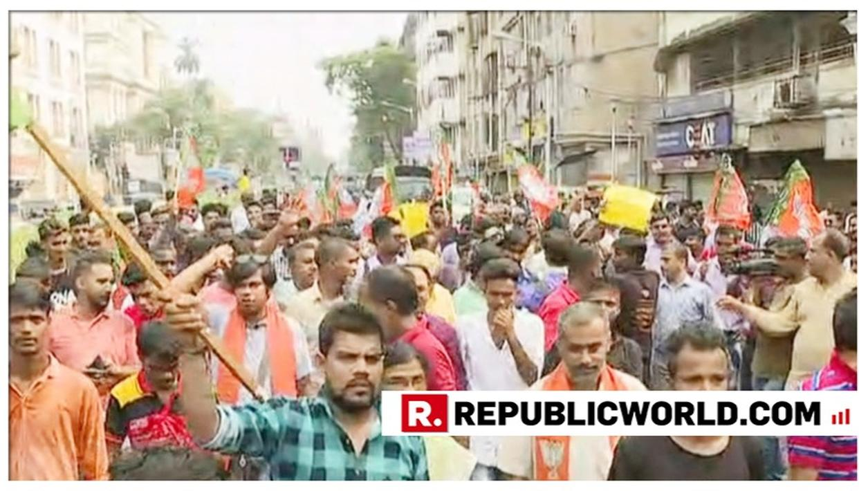 WATCH: BJP PROTESTS IN KOLKATA, WEST BENGAL OVER ALLEGED KILLING OF FIVE WORKERS, VIOLENT CLASHES IN STATE