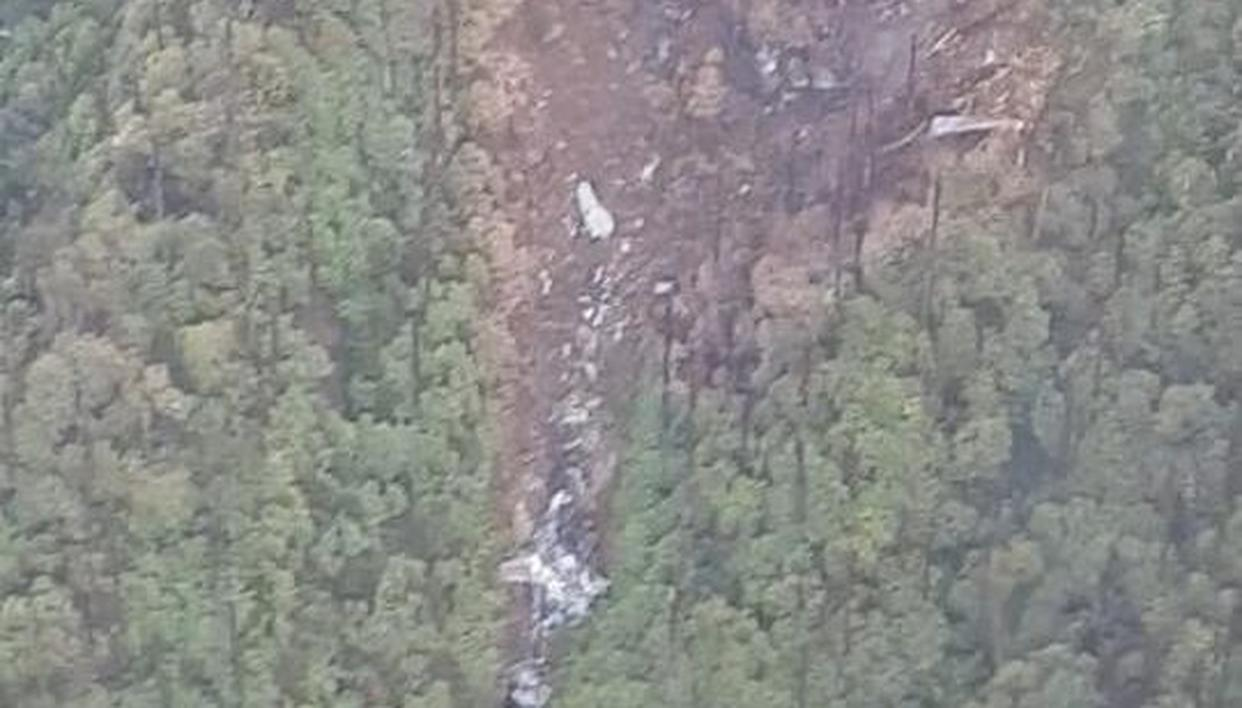 VISUAL OF AN-32 CRASH SITE REVEALS PERILOUS TERRAIN, IAF TO AIRDROP SEARCH TEAMS TO SEARCH AREA ON WEDNESDAY
