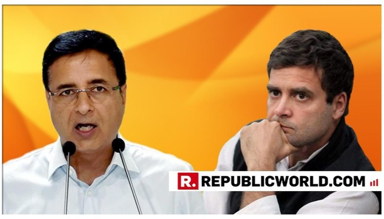 RAHUL GANDHI WAS, IS AND WILL REMAIN CONGRESS PRESIDENT: SURJEWALA
