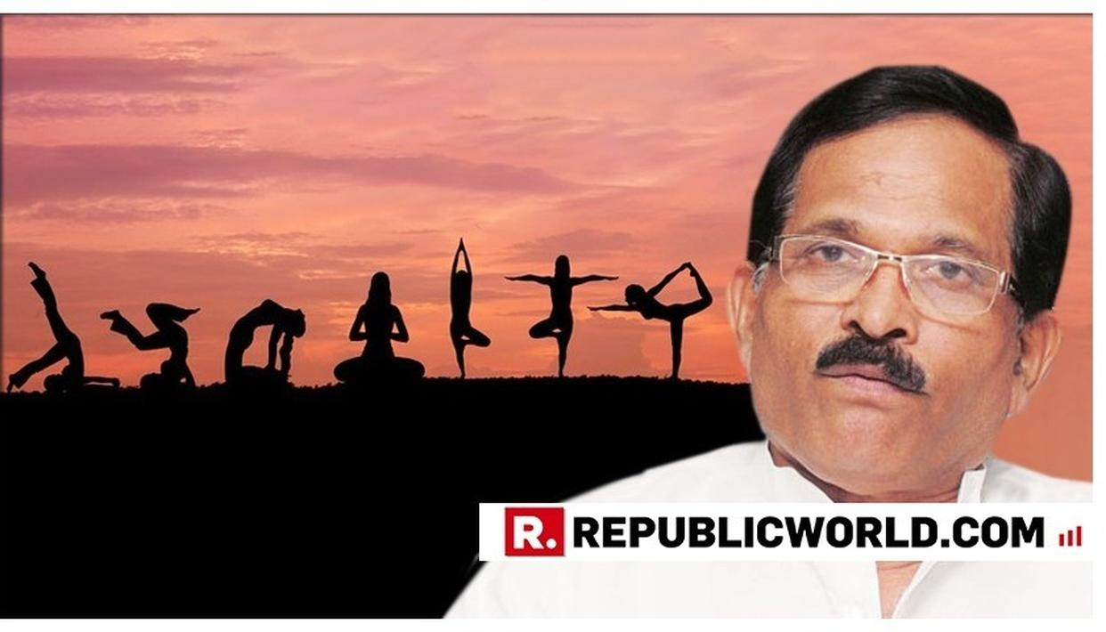 THEME OF THIS YEAR'S WORLD YOGA DAY IS 'YOGA FOR HEART': UNION MINISTER SHRIPAD YSTHEME OF THIS YEAR'S WORLD YOGA DAY IS 'YOGA FOR HEART': SHRIPAD YESSO NAIK
