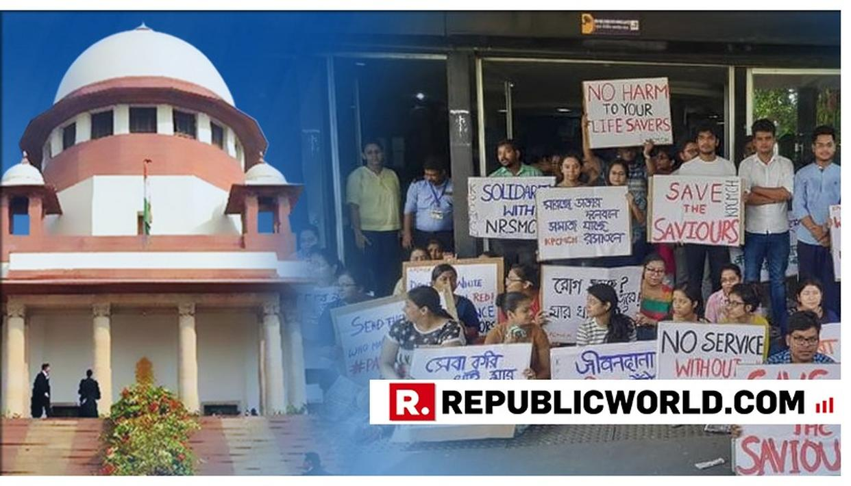 DOCTORS' STRIKE REACHES SUPREME COURT: PLEA FILED OVER SAFETY AND SECURITY OF DOCTORS SEEKING SECURITY AT GOVERNMENT HOSPITALS