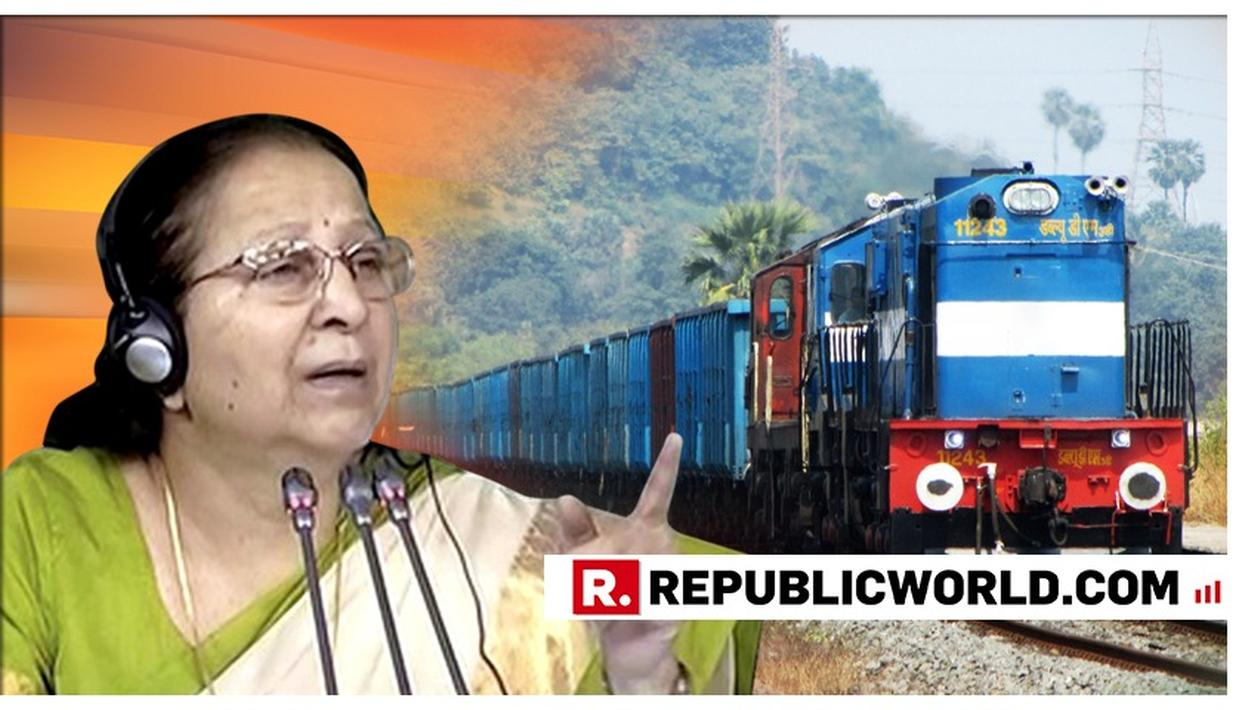 OUTGOING LOK SABHA SPEAKER SUMITRA MAHAJAN SEEKS CLARIFICATION ON RAILWAYS' MASSAGE SERVICE PLAN