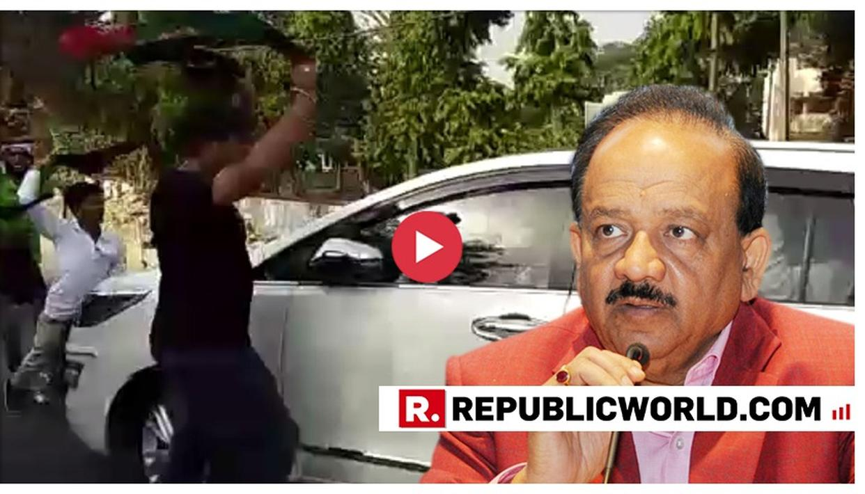 WATCH: BLACK FLAGS RAISED AT UNION MINISTER HARSH VARDHAN'S CAR AS HE REVIEWS THE SITUATION IN BIHAR WHILE DEATH TOLL RISES TO 93