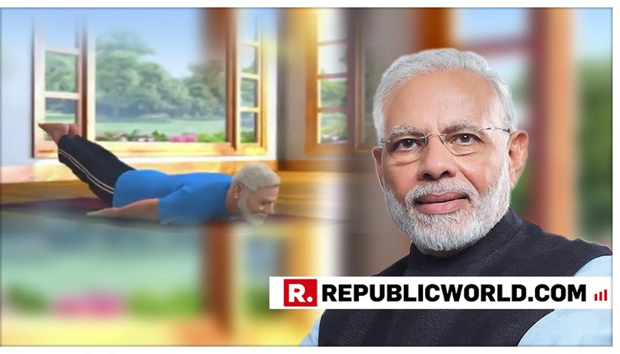 WATCH: PM MODI POSTS ANOTHER ANIMATED YOGA VIDEO