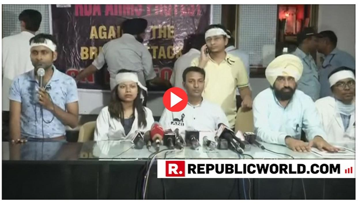 WATCH: AIIMS DOCTORS ASSOCIATION CALLS FOR CENTRAL LAW FOR PROTECTION OF MEDICAL PRACTITIONERS AT WORK, HITS OUT AT WEST BENGAL CM MAMATA BANERJEE