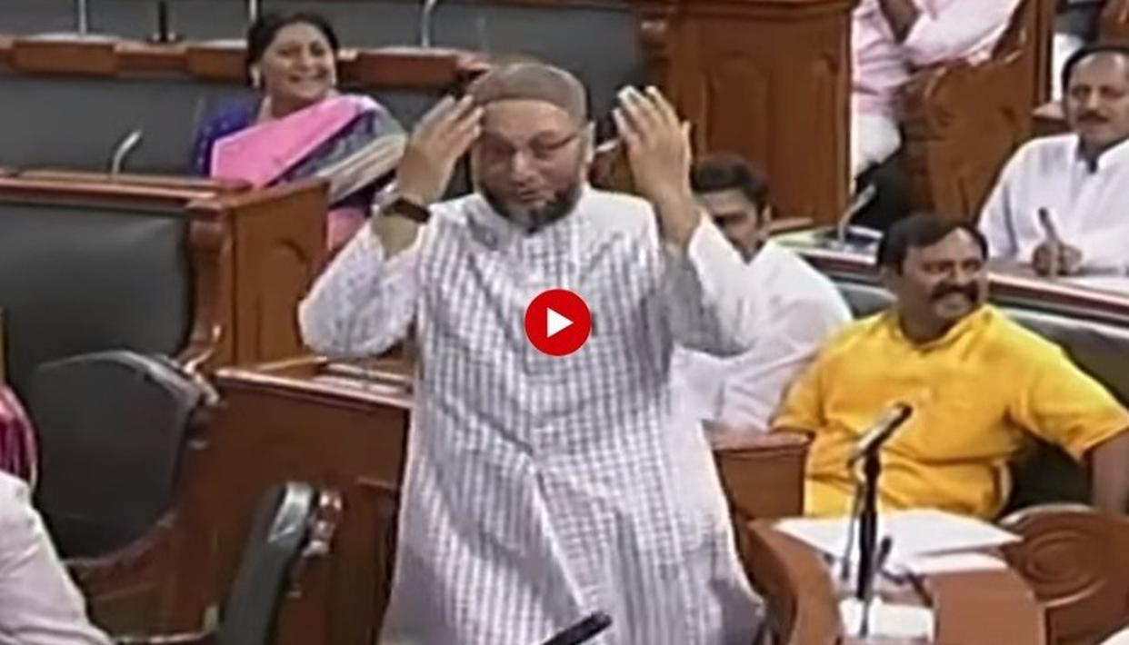 WATCH: 'VANDE MATARAM' AND 'BHARAT MATA KI JAI' SLOGANS GREET ASADUDDIN OWAISI AS HE TAKES OATH AS HYDERABAD MP IN 17TH LOK SABHA, HERE'S HOW HE RESPONDED