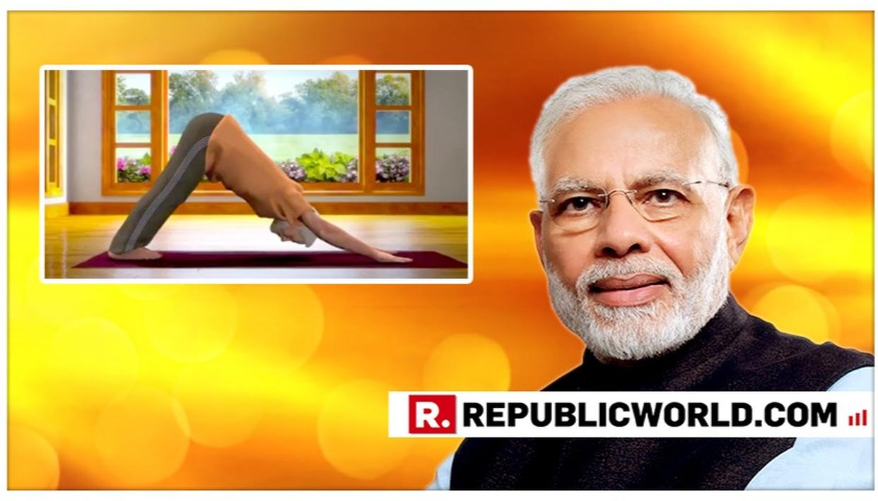 YOGA DAY 2019 | WATCH: PM MODI'S ANIMATED AVATAR DEMONSTRATES THE SURYA NAMASKAR, TELLS YOU EXACTLY WHY YOU SHOULD DO IT TOO