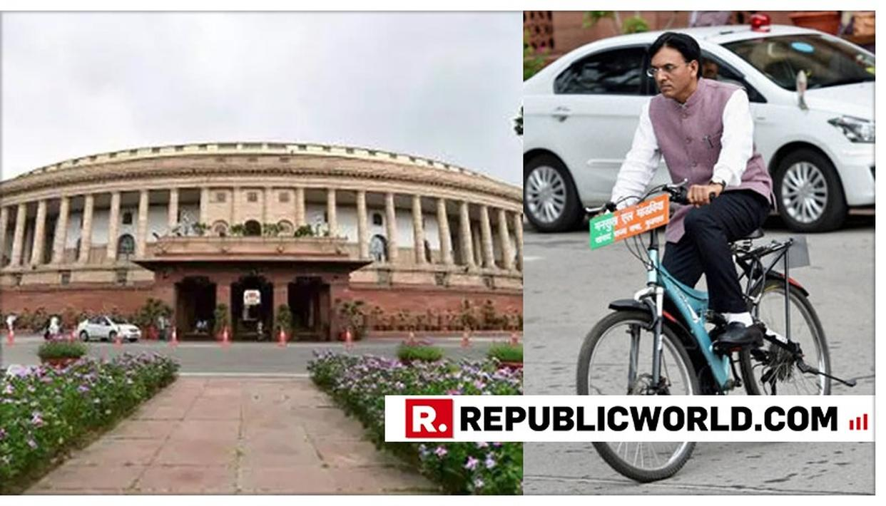 """""""WILL ENCOURAGE MORE MPS TO PEDAL TO THE HOUSE"""", SAYS UNION MINISTER MANSUKH LAL MANDAVIYA WHILE TALKING ABOUT HIS PASSION FOR CYCLING"""
