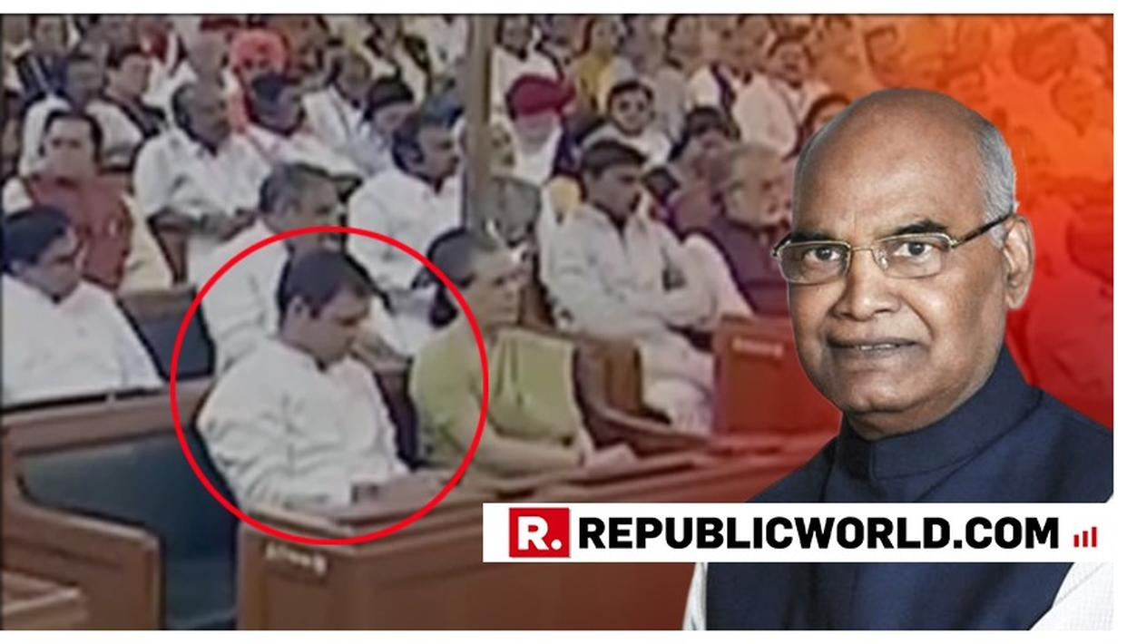 WATCH: PRESIDENT RAM NATH KOVIND ADDRESSES JOINT SITTING OF BOTH THE HOUSES IN PARLIAMENT, RAHUL GANDHI SEEN BROWSING HIS PHONE