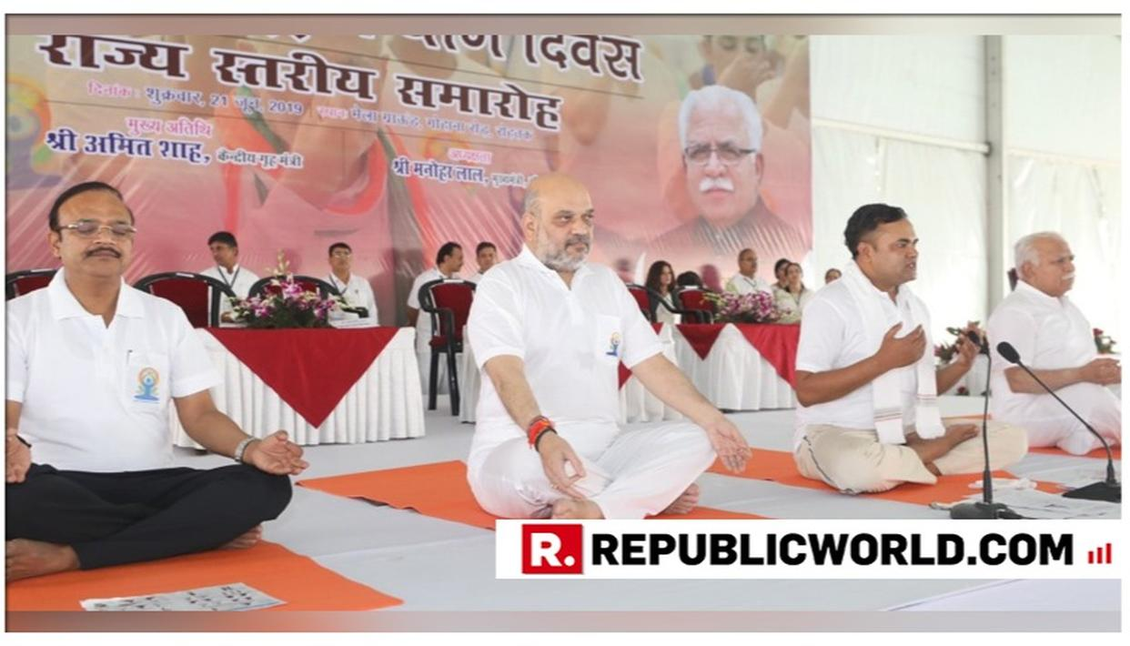 HOME MINISTER AMIT SHAH CELEBRATES INTERNATIONAL YOGA DAY IN ROHTAK