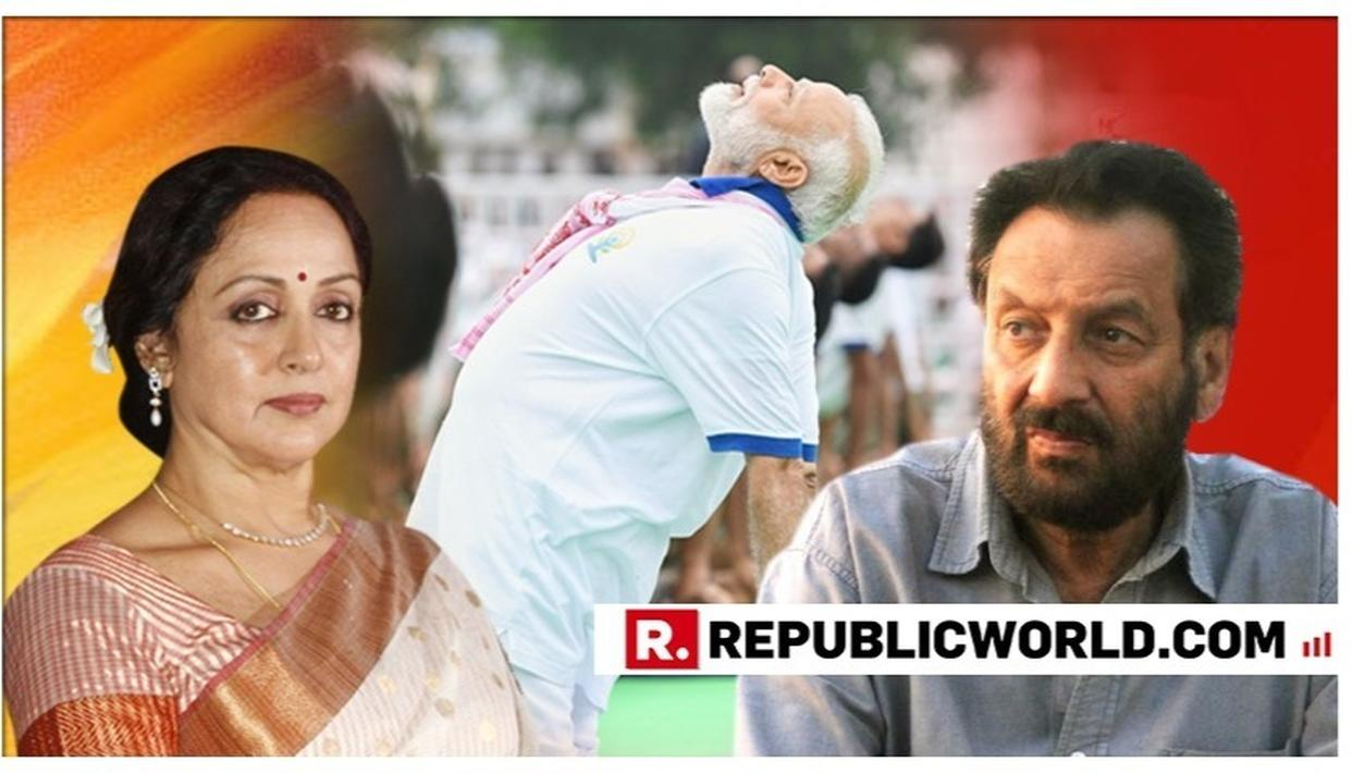 INTERNATIONAL YOGA DAY: ACTOR-MP HEMA MALINI THANKS PM NARENDRA MODI FOR POPULARISING YOGA; SHEKHAR KAPUR 'EXTREMELY PROUD' AS WELL