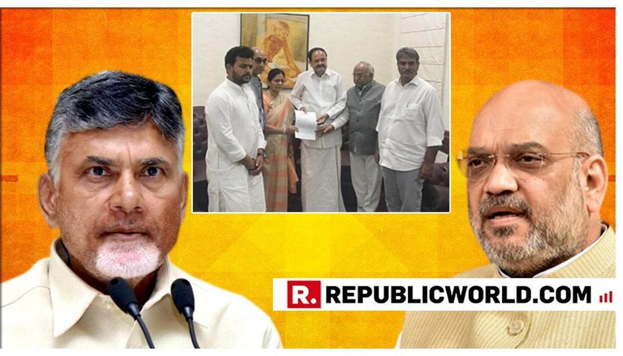 BIG: FIVE TDP MPS MEET VICE PRESIDENT VENKAIAH NAIDU, CHALLENGE THE DEFECTIONS OF RAJYA SABHA MPS TO BJP