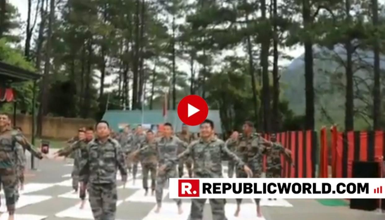 INTERNATIONAL YOGA DAY: INDIAN AND CHINESE ARMIES CONDUCTED A JOINT SESSION OF YOGA