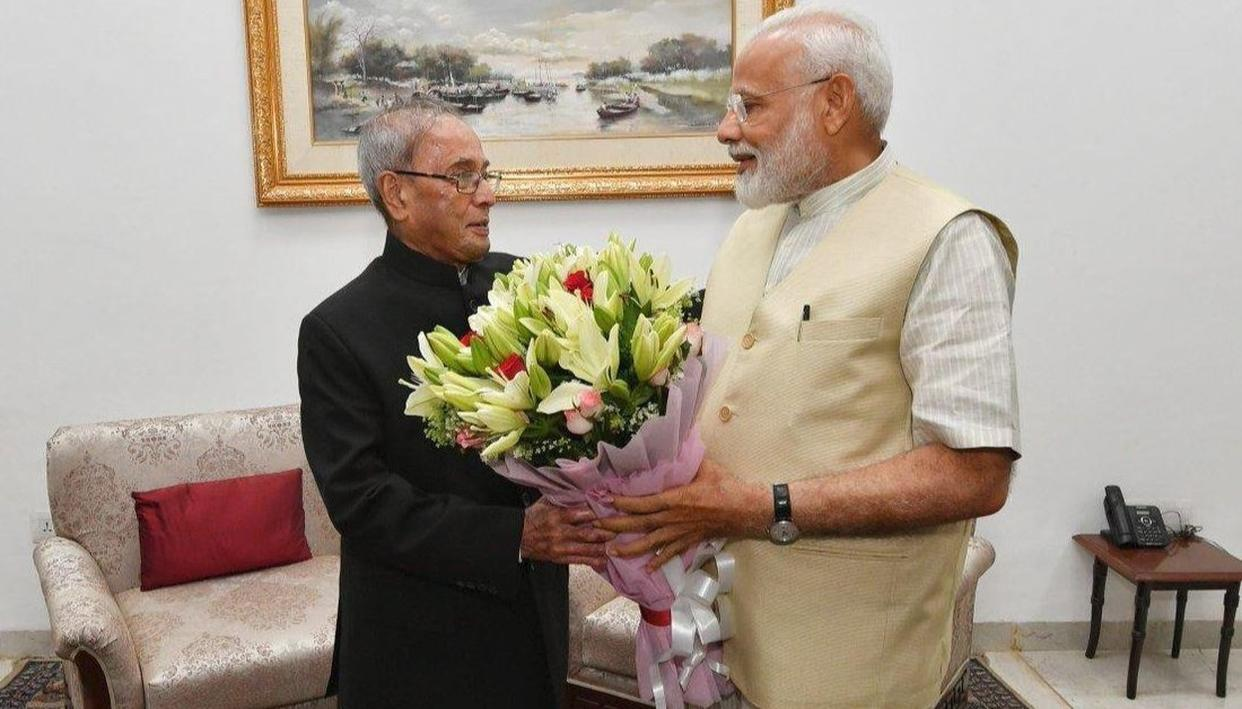 FORMER PRESIDENT PRANAB MUKHERJEE LISTS BENEFITS OF YOGA, PM NARENDRA MODI SAYS IT IS A MATTER OF PRIDE. READ HERE