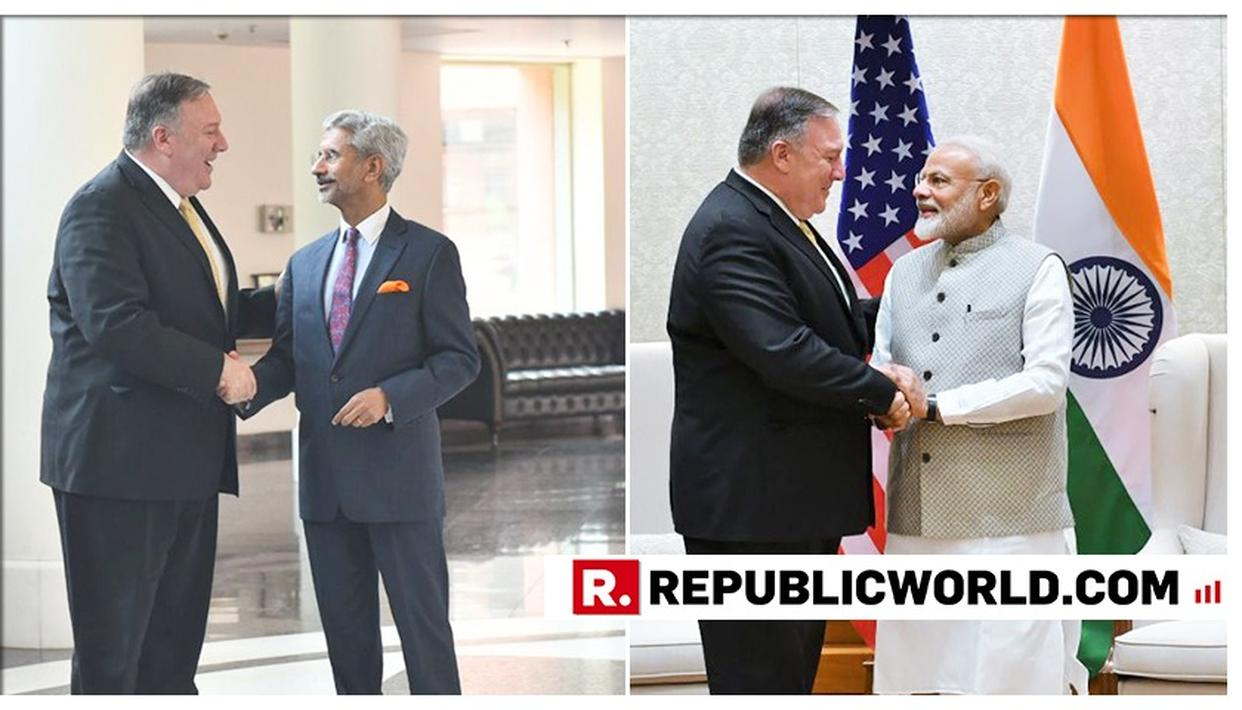 EAM S JAISHANKAR MEETS US SECRETARY OF STATE MIKE POMPEO TO DISCUSS STRATEGIC TIES BETWEEN INDIA AND US