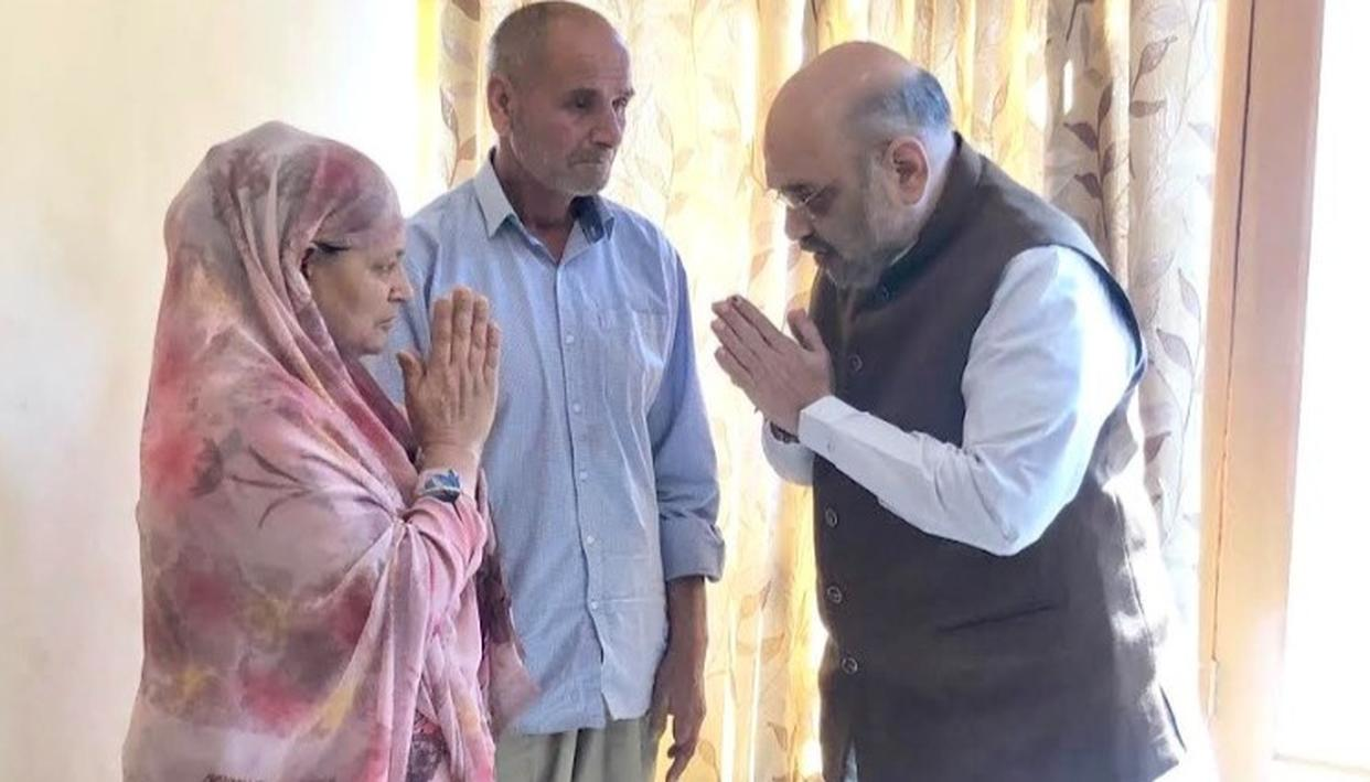 NATION IS PROUD OF YOUR SON, HOME MINISTER AMIT SHAH TELLS FAMILY OF SLAIN J-K POLICE OFFICER
