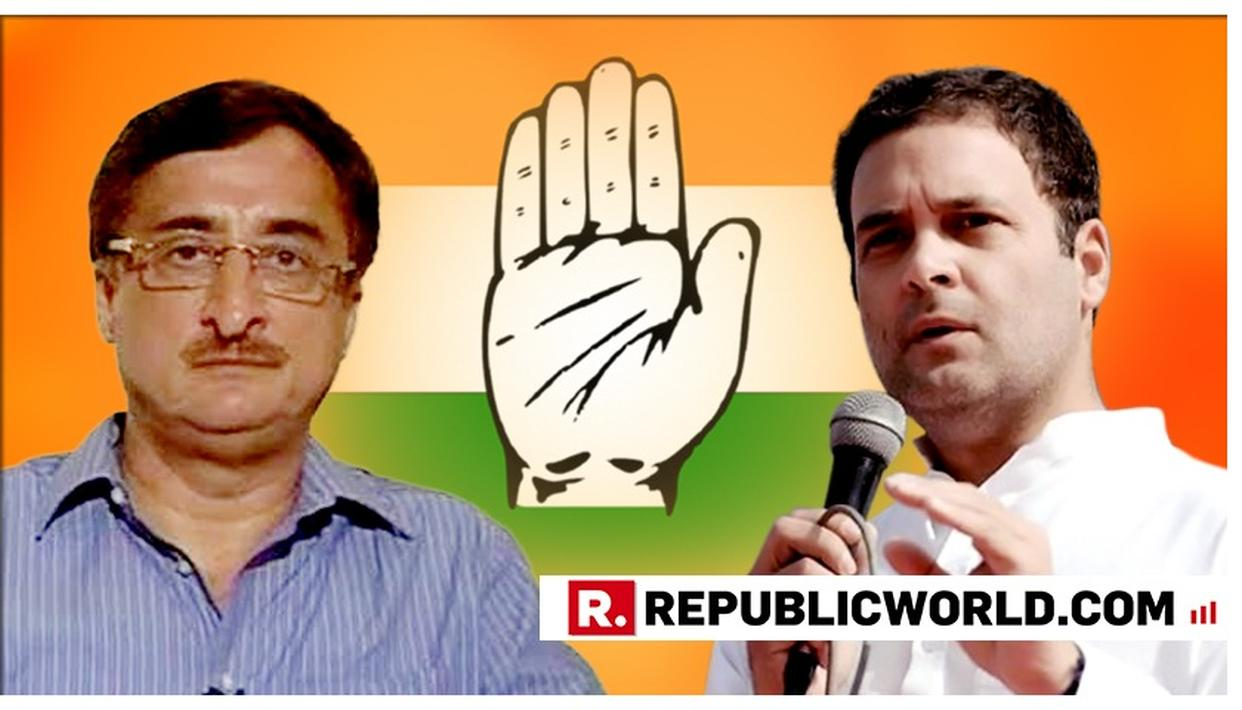 CONGRESS LAW, RTI & HR CHAIRMAN VIVEK TANKHA RESIGNS FROM PARTY POST ACCEPTING RESPONSIBILITY FOR LOK SABHA LOSS