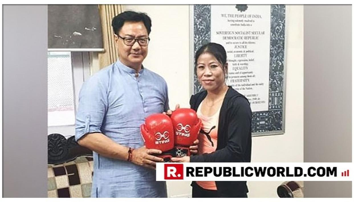 HERE'S WHAT KIREN RIJIJU SAID TO AVOID BOXING WITH MARY KOM
