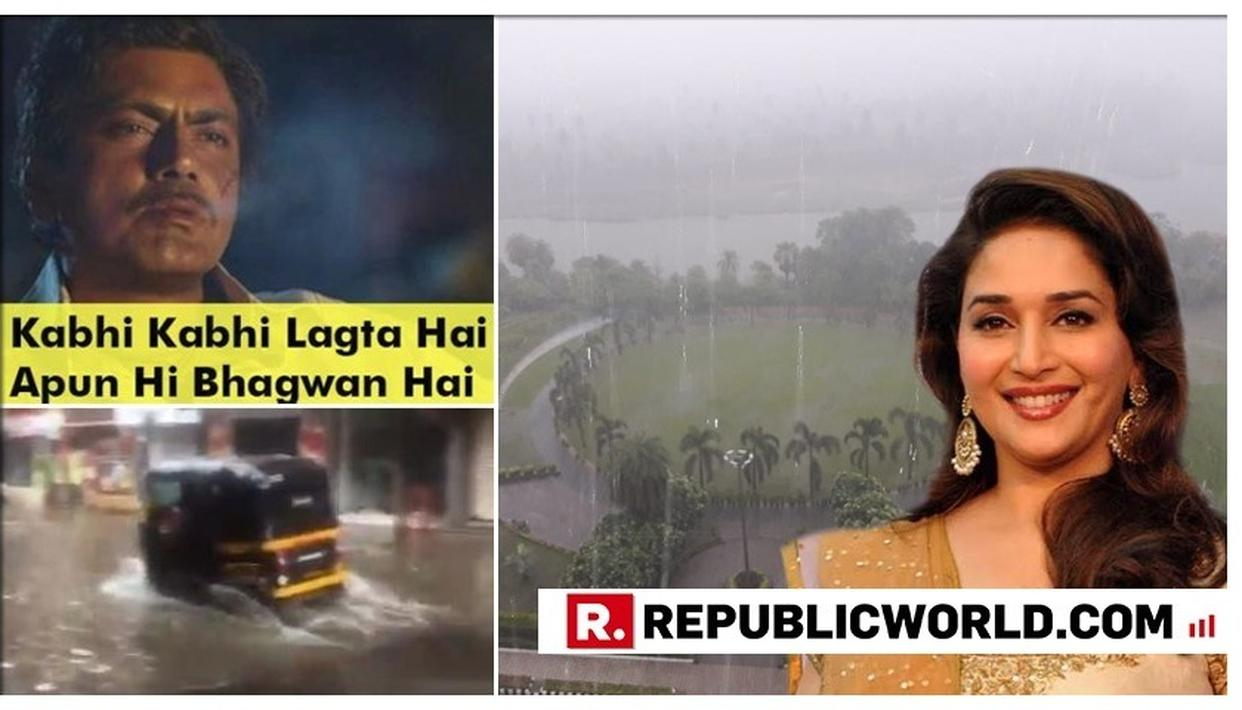 #MUMBAIRAINS: FROM HILARIOUS MEMES TO CRAVINGS, DELIGHT TO DISAPPOINTMENT, HERE'S HOW NETIZENS INCLUDING MADHURI DIXIT NENE WELCOMED THE CITY'S FIRST HEAVY SHOWERS OF THE SEASON