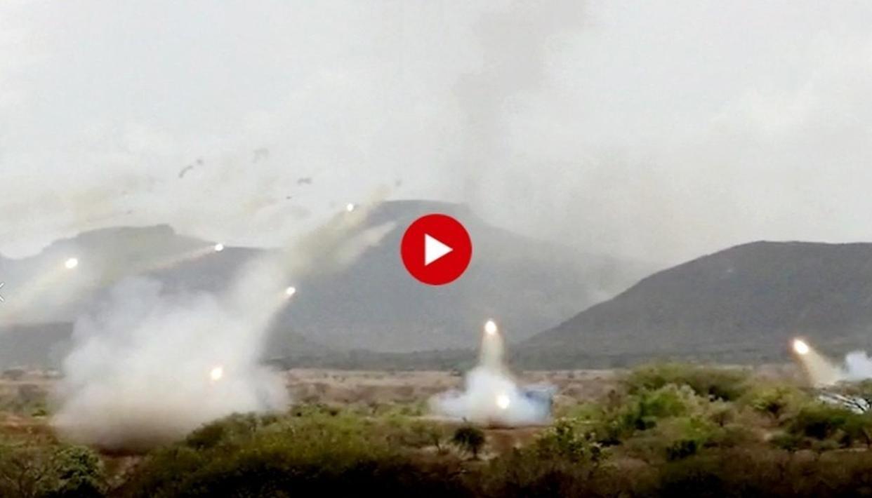 PAKISTAN, WATCH THIS: INDIA'S BM-21 ROCKET LAUNCHERS RAIN FIRE IN THUNDEROUS DISPLAY