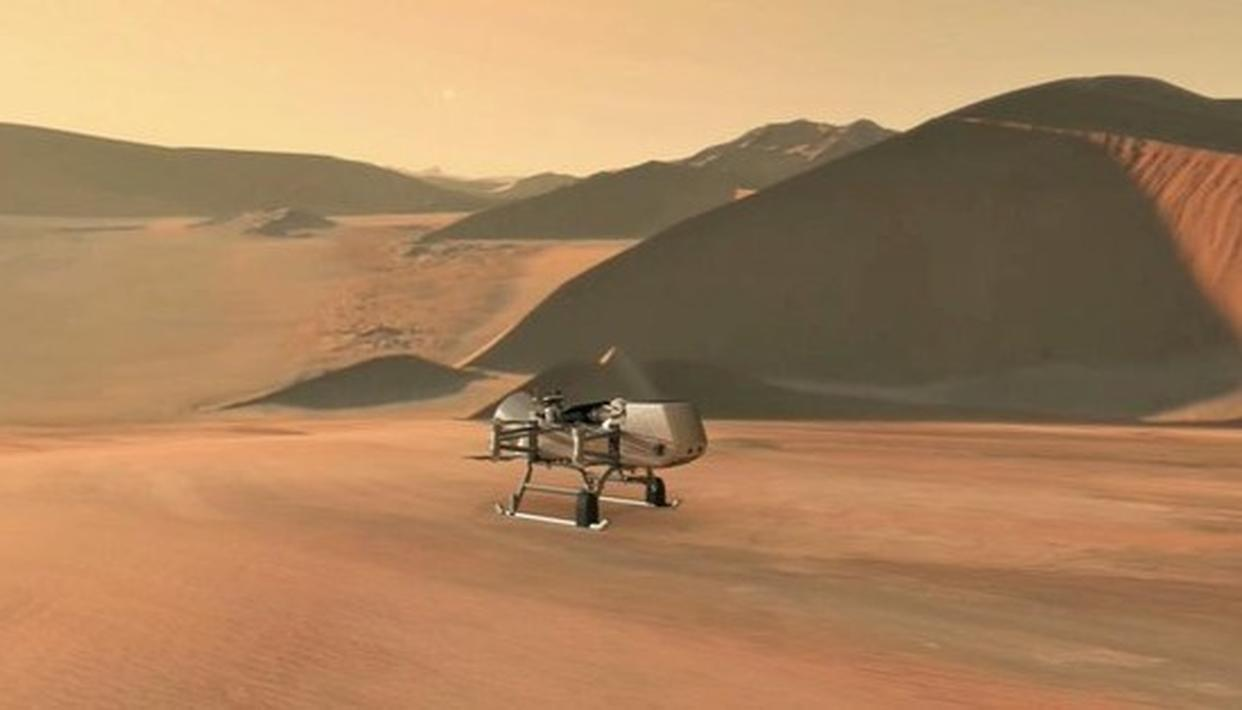 NASA'S DRAGONFLY TO EXPLORE SATURN'S MOON FOR ORIGINS, SIGNS OF LIFE