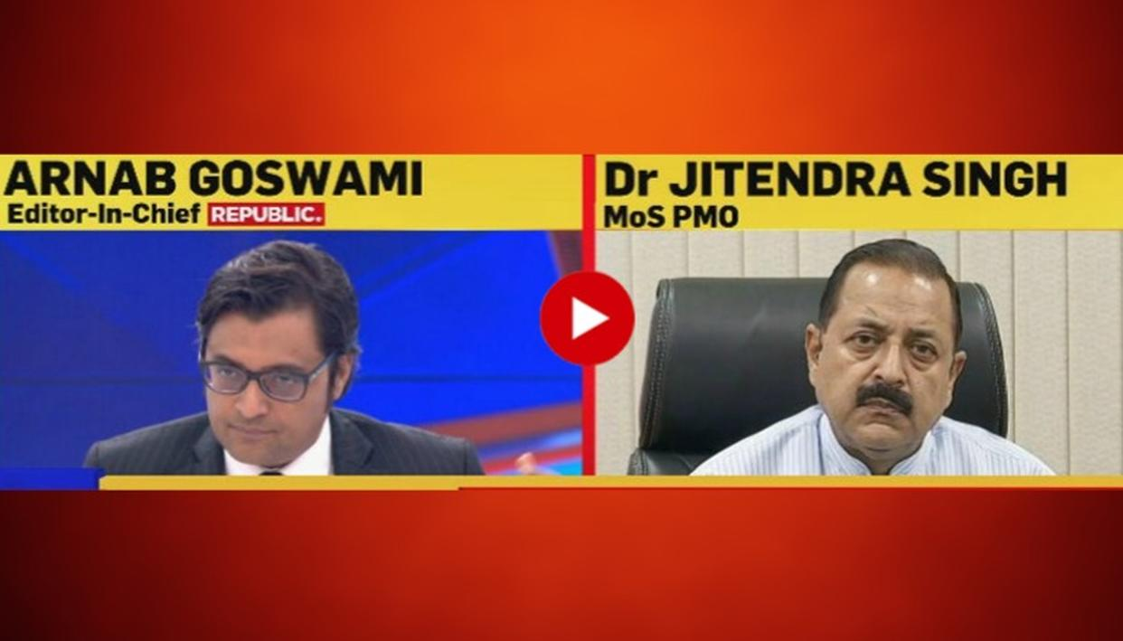 "WATCH: ""NC AND KASHMIR CONGRESS ARE BENEFICIARIES OF MILITANCY AND INSTABILITY IN KASHMIR,"" SAYS MOS PMO DR. JITENDRA SINGH"
