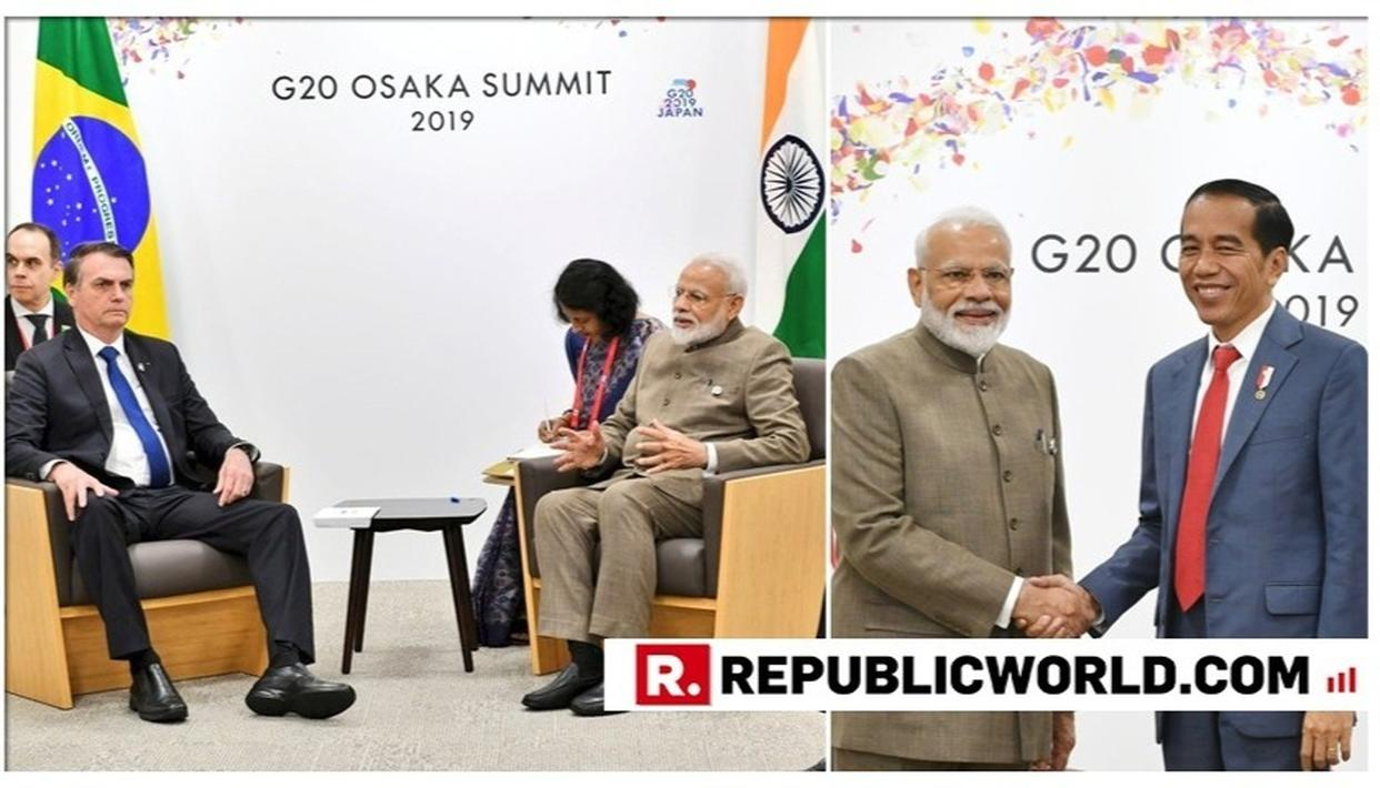 PM MODI HOLDS SEPARATE TALKS WITH PRESIDENTS OF INDONESIA, BRAZIL; FOCUS ON BILATERAL TIES, TRADE